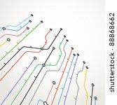 abstract metro scheme background | Shutterstock .eps vector #88868662
