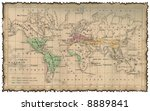 ancient map of the world | Shutterstock . vector #8889841