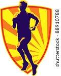 illustration of a marathon... | Shutterstock . vector #88910788