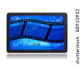 tablet pc and film strip | Shutterstock .eps vector #88910932