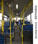 lonely woman n the bus with a... | Shutterstock . vector #88940806
