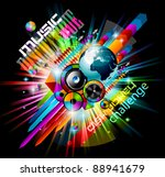 alternative discoteque music... | Shutterstock . vector #88941679