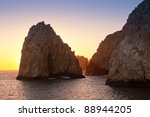 the rock formation near the...   Shutterstock . vector #88944205