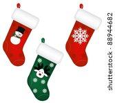 3 Santa's Stocking  Isolated O...