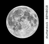 Closeup Of Full Moon  Taken On...
