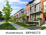 modern town houses of brick and ... | Shutterstock . vector #88948273