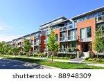 Modern Town Houses Of Brick An...