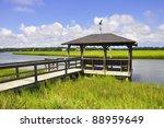 Fishing Dock On A Marsh