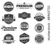 set of 12 retro premium quality ... | Shutterstock . vector #88963732