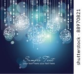 blue christmas background with... | Shutterstock .eps vector #88970821