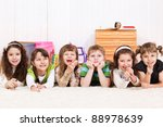 group of laughing children... | Shutterstock . vector #88978639