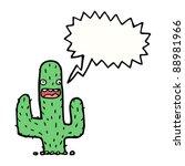 happy wild west cactus cartoon | Shutterstock .eps vector #88981966
