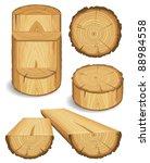 Set Of Wooden Materials   Wood...