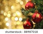 Closeup Of Christmas Tree...