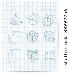 scheme of geometrical objects...   Shutterstock .eps vector #88992256