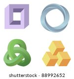 optical illusion symbols vector | Shutterstock .eps vector #88992652