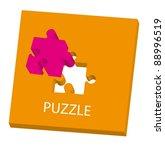 conceptual puzzle over white... | Shutterstock .eps vector #88996519