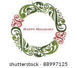 vector graphic scroll holiday... | Shutterstock .eps vector #88997125