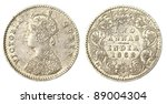 Old Indian Two Anas Coin Of 1862