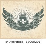the vector image of vintage... | Shutterstock .eps vector #89005201