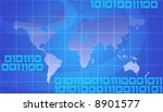 binary world   global... | Shutterstock . vector #8901577
