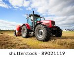 huge tractor collecting... | Shutterstock . vector #89021119
