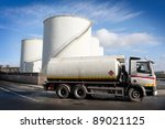 truck with fuel tank  and... | Shutterstock . vector #89021125