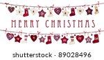 christmas card on white... | Shutterstock . vector #89028496