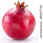 pomegranate fruit isolated on a ... | Shutterstock . vector #89037718