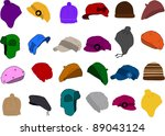 set of a hat icon | Shutterstock .eps vector #89043124