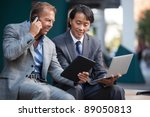 businessmen using laptop and... | Shutterstock . vector #89050813