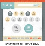 web interface paper template... | Shutterstock .eps vector #89051827