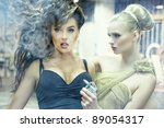 two stunning ladies in an old... | Shutterstock . vector #89054317