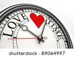 Love Time Red Black Words On...