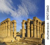 Luxor Temple  Thebes  Africa ...