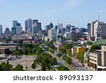 montreal view by a jacques... | Shutterstock . vector #89093137