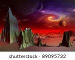 andara  alien planet part 3 ... | Shutterstock . vector #89095732
