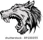 cartoon vector mascot image of... | Shutterstock .eps vector #89100355