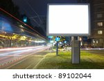 billboard in the city street ... | Shutterstock . vector #89102044