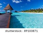 overwater spa in blue lagoon...   Shutterstock . vector #89103871