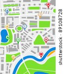 abstract map with pointers ... | Shutterstock .eps vector #89108728