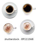 collection of various coffee... | Shutterstock . vector #89111368