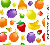 fruit to background  seamless | Shutterstock .eps vector #89112550