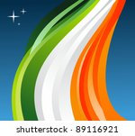 Ireland flag illustration fluttering on a gray background. - stock photo
