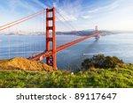 Golden Gate In Clear Blue Sky...