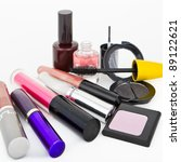 makeup collection on white...   Shutterstock . vector #89122621
