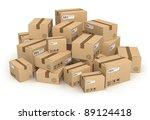 heap of cardboard boxes...   Shutterstock . vector #89124418