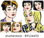 illustration with collection of ... | Shutterstock . vector #89126653