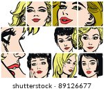 illustration with collection of ... | Shutterstock . vector #89126677