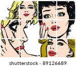illustration with collection of ... | Shutterstock . vector #89126689